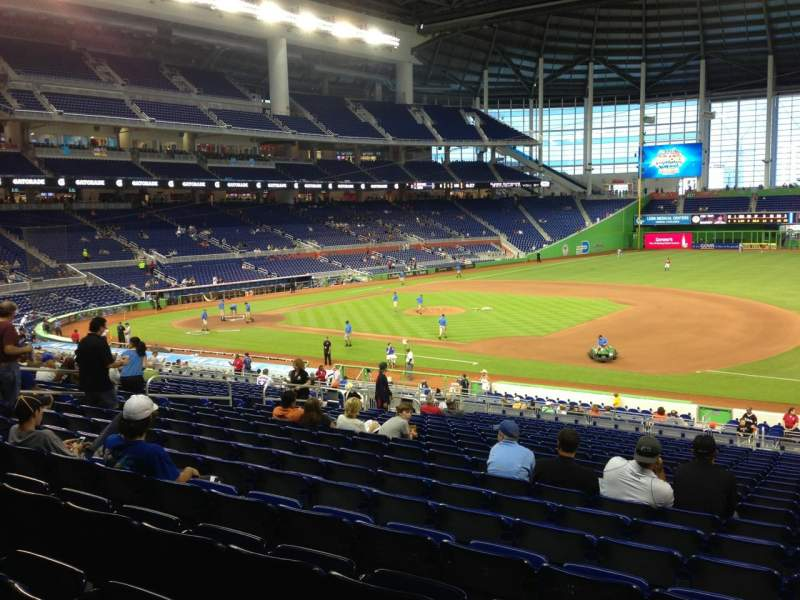 Seating view for Marlins Park Section 7 Row 20 Seat 7