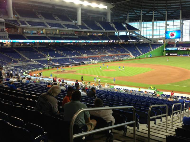 Seating view for Marlins Park Section 6 Row 22 Seat 20