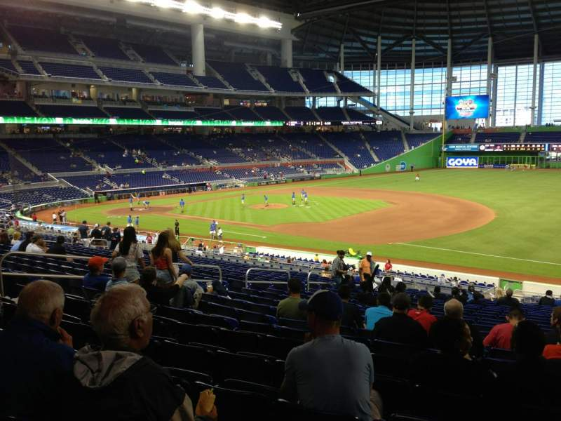 Seating view for Marlins Park Section 6 Row 22 Seat 9