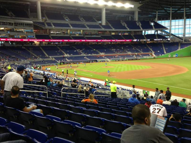 Seating view for Marlins Park Section 5 Row 16 Seat 2
