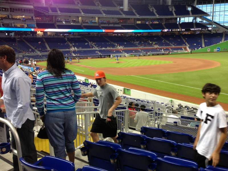 Seating view for Marlins Park Section 4 Row 6 Seat 14