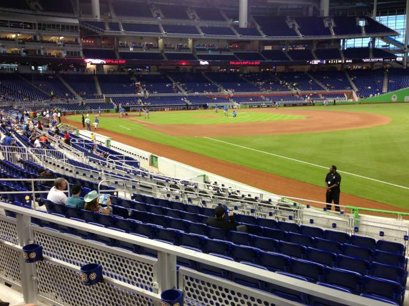 Seating view for Marlins Park Section 4 Row 2 Seat 1