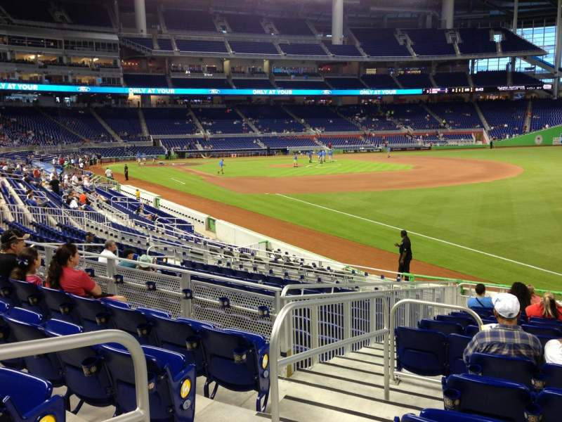 Seating view for Marlins Park Section 3 Row 5 Seat 14