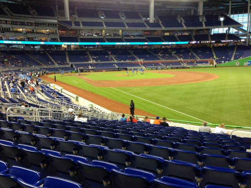 Seating view for Marlins Park Section 3 Row 8 Seat 2