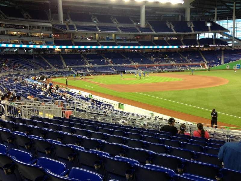 Seating view for Marlins Park Section 4 Row 9 Seat 3