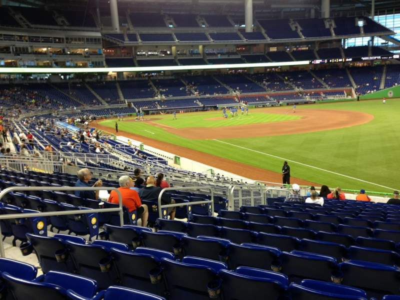 Seating view for Marlins Park Section 3 Row 11 Seat 11
