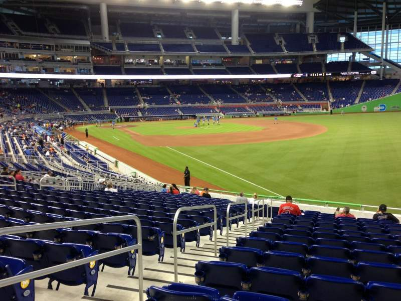 Seating view for Marlins Park Section 2 Row 13 Seat 17