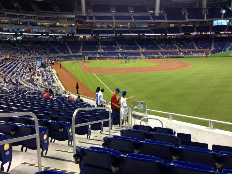 Seating view for Marlins Park Section 1 Row 15 Seat 7