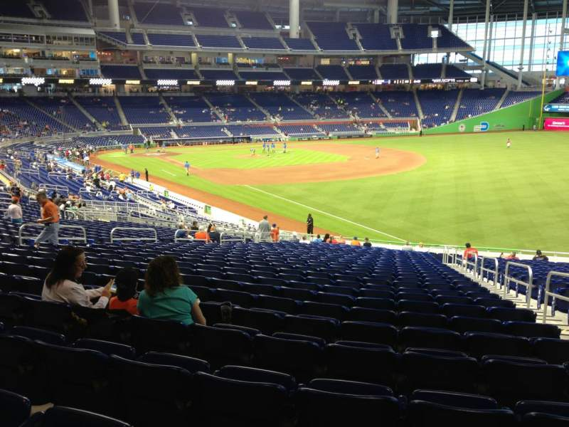 Seating view for Marlins Park Section 3 Row 24 Seat 3