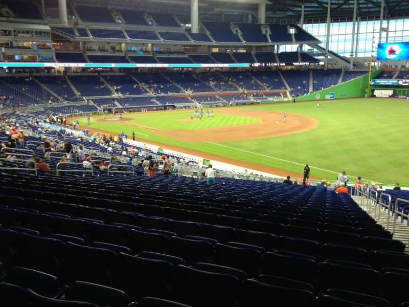 Seating view for Marlins Park Section 4 Row 26 Seat 2