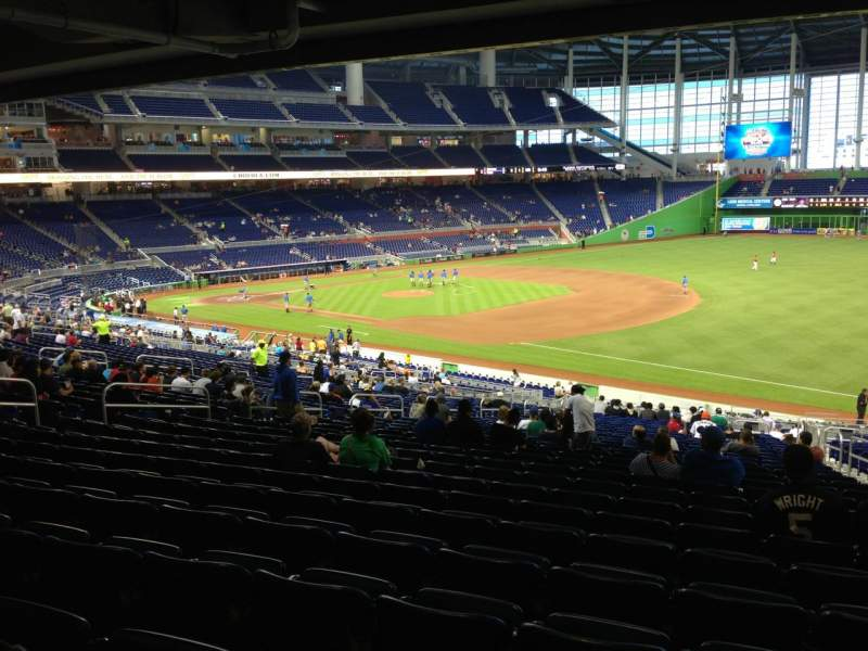 Seating view for Marlins Park Section 5 Row 29 Seat 4