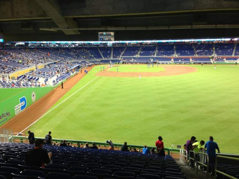 Seating view for Marlins Park Section 39 Row 13 Seat 1