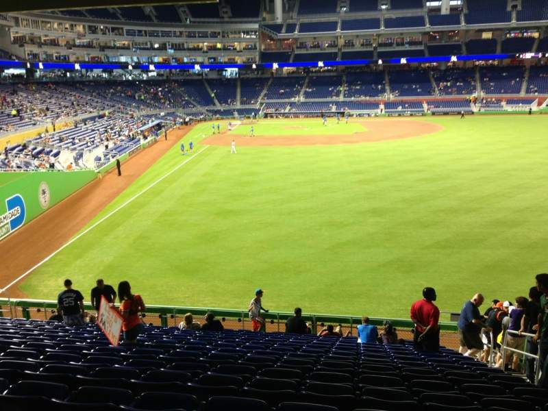Seating view for Marlins Park Section 40 Row 9 Seat 4