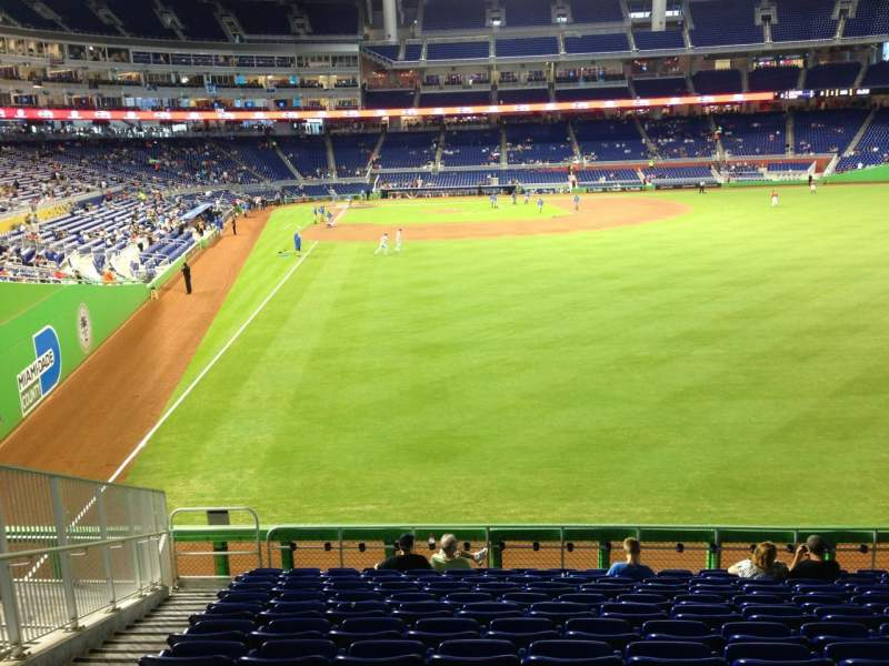Seating view for Marlins Park Section 40 Row 6 Seat 19