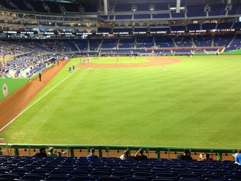 Seating view for Marlins Park Section 40 Row 6 Seat 12