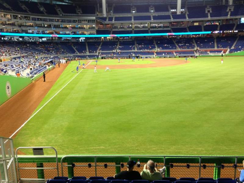 Seating view for Marlins Park Section 40 Row 1 Seat 21
