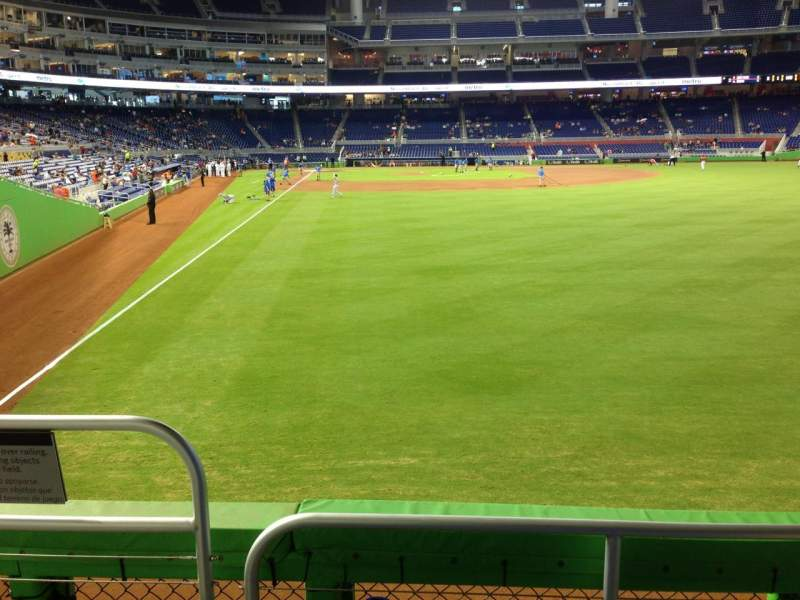 Seating view for Marlins Park Section 40 Row C Seat 25