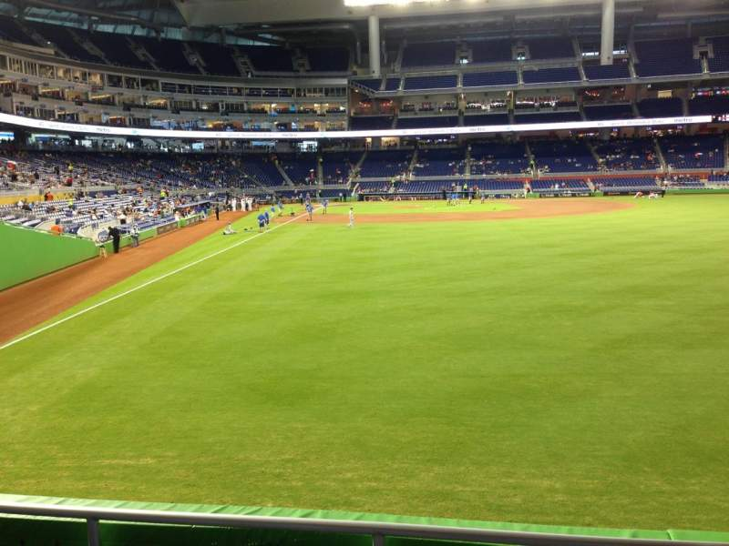 Seating view for Marlins Park Section 40 Row C Seat 15