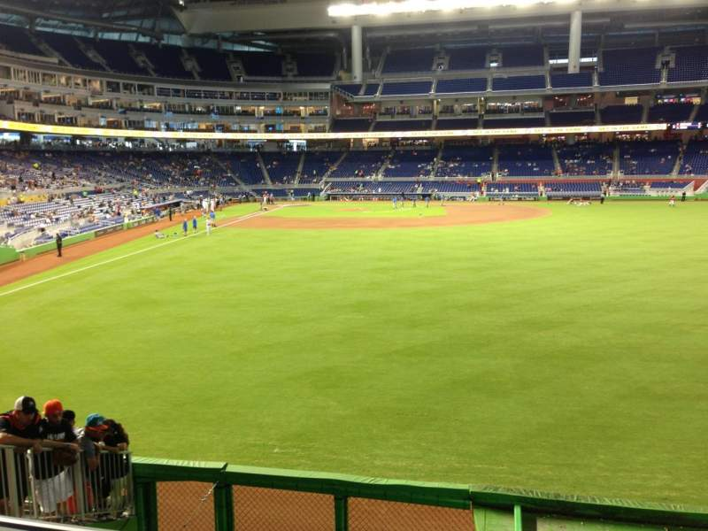 Seating view for Marlins Park Section 39 Row 2 Seat 15