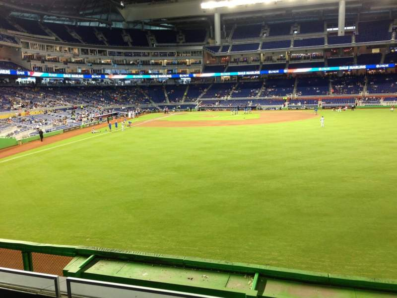 Seating view for Marlins Park Section 39 Row 2 Seat 4