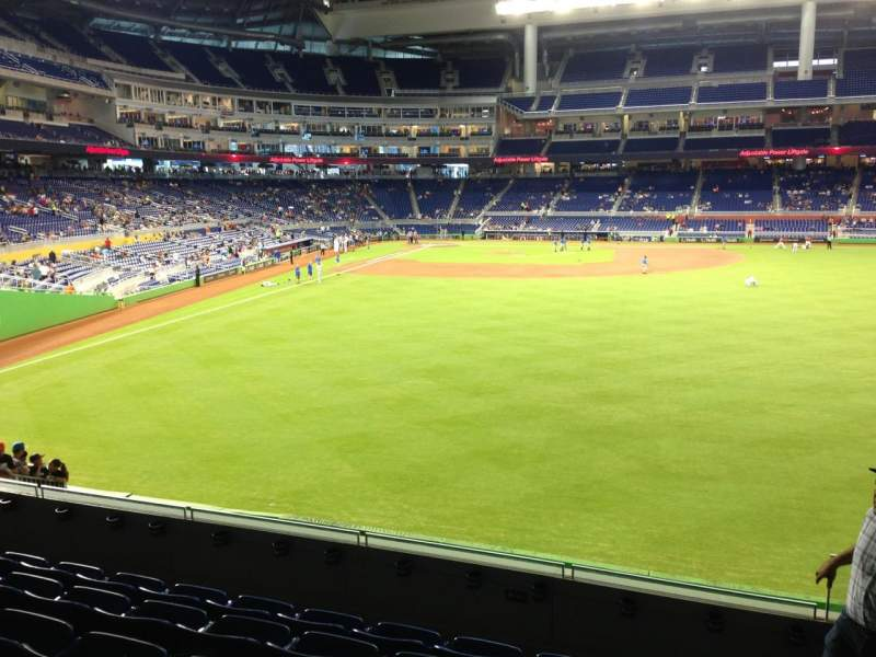 Seating view for Marlins Park Section 39 Row 6 Seat 1