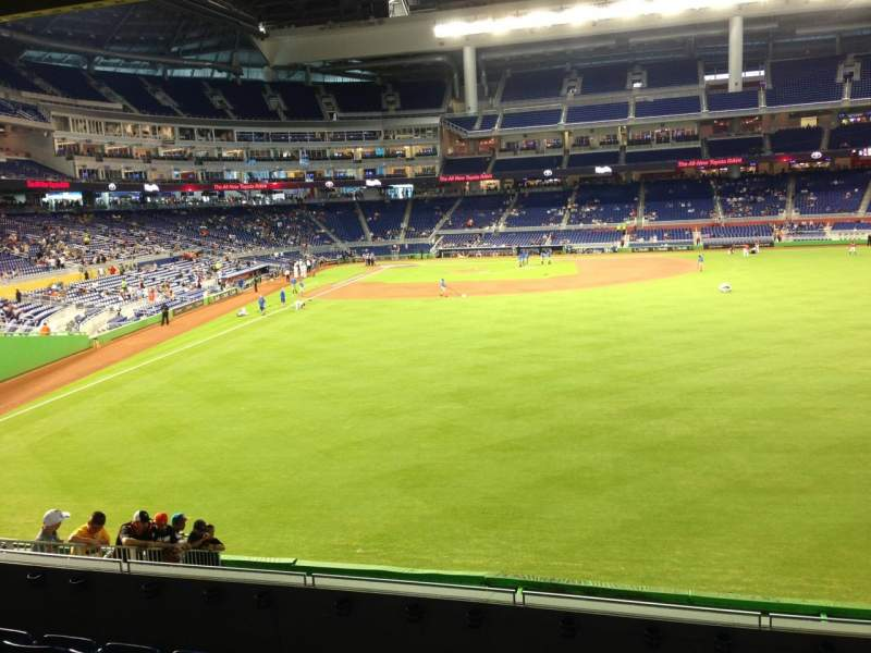 Seating view for Marlins Park Section 39 Row 6 Seat 10