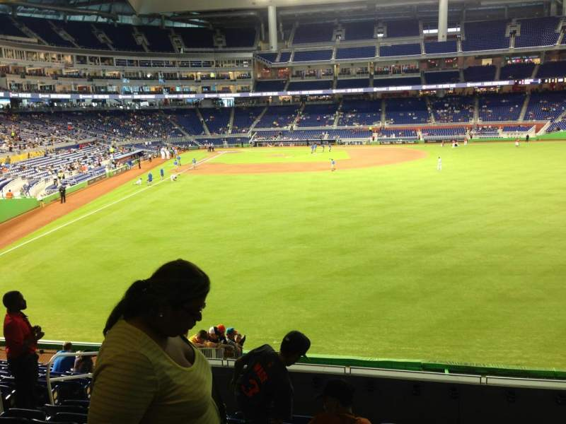 Seating view for Marlins Park Section 39 Row 7 Seat 17