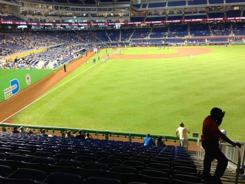 Seating view for Marlins Park Section 40 Row 8 Seat 1