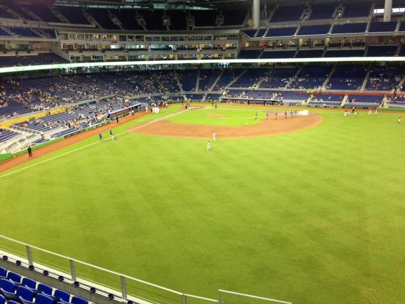 Seating view for Marlins Park Section 137 Row 7 Seat 21
