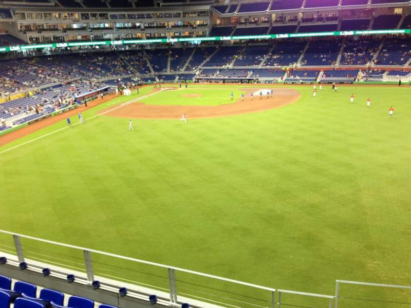 Seating view for Marlins Park Section 138 Row 5 Seat 1