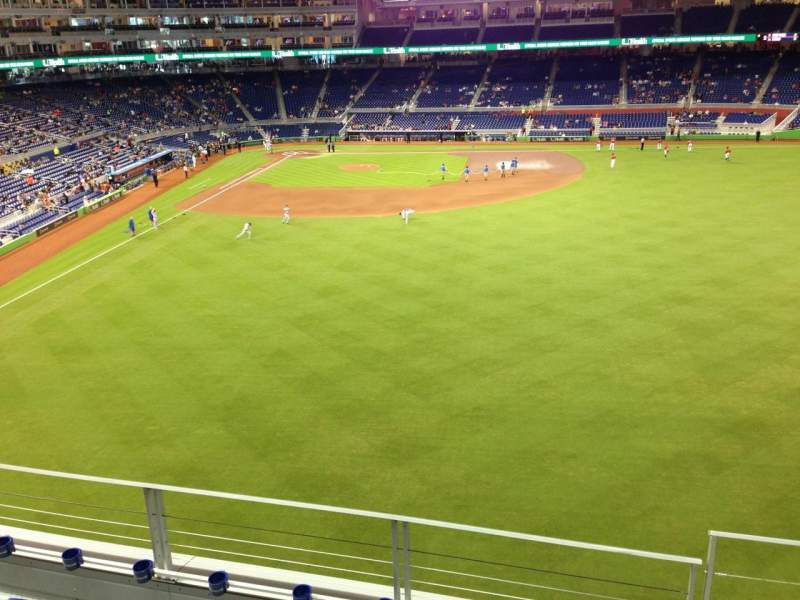 Seating view for Marlins Park Section 139 Row 4 Seat 1