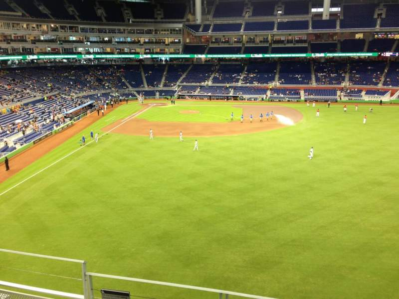 Seating view for Marlins Park Section 139 Row 4 Seat 14