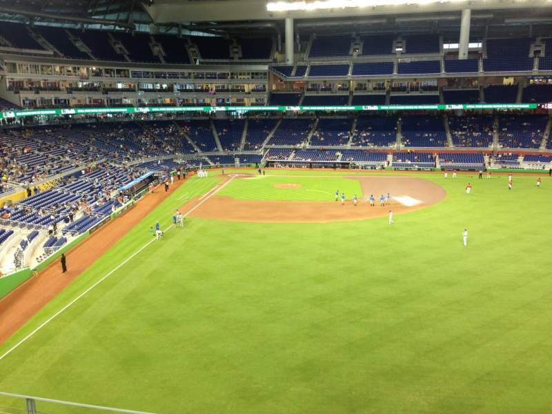 Seating view for Marlins Park Section 140 Row 6 Seat 4