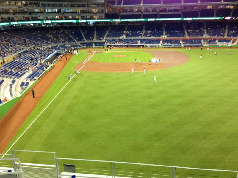 Seating view for Marlins Park Section 140 Row 6 Seat 17