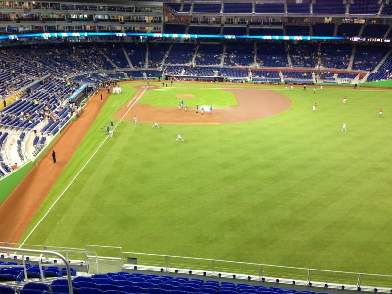 Seating view for Marlins Park Section 140 Row 12 Seat 12