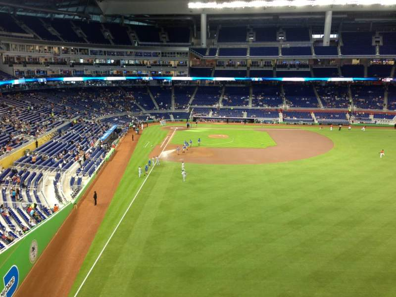 Seating view for Marlins Park Section 141 Row 8 Seat 1