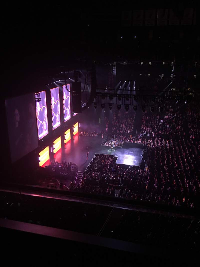 Seating view for Prudential Center Section 127 Row 1 Seat 8