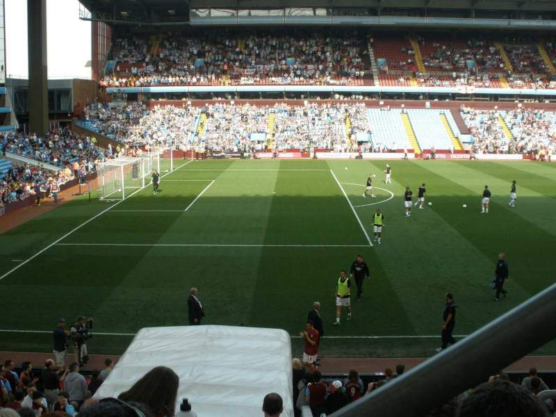 Seating view for Villa Park Section Trinity Road B5 Row 20 Seat 221