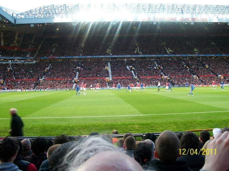 Seating view for Old Trafford Section STH123 Row KK Seat 186