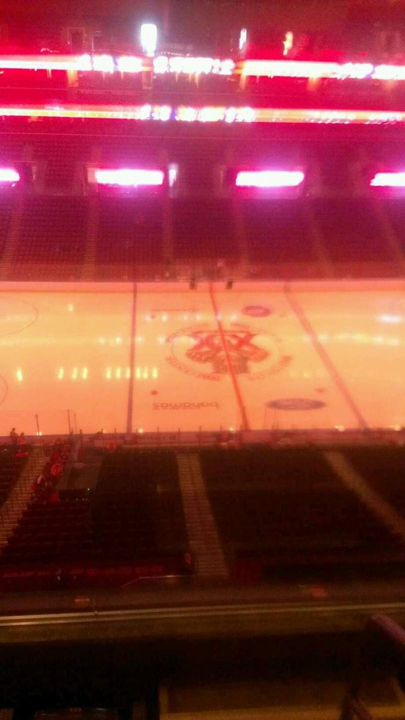Seating view for BB&T Center Section 402 Row 2 Seat 1