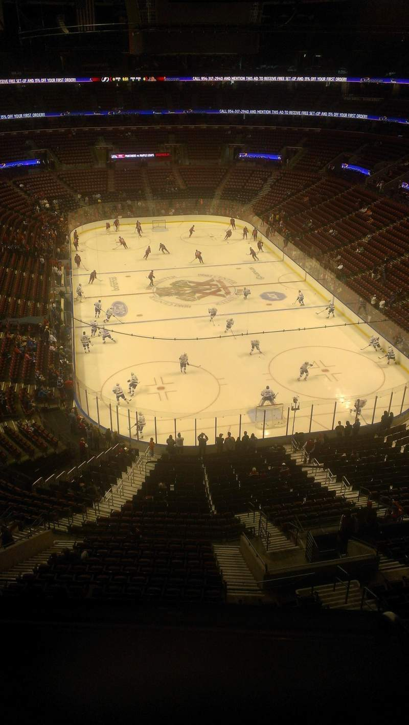 Seating view for BB&T Center Section 428 Row 2 Seat 2