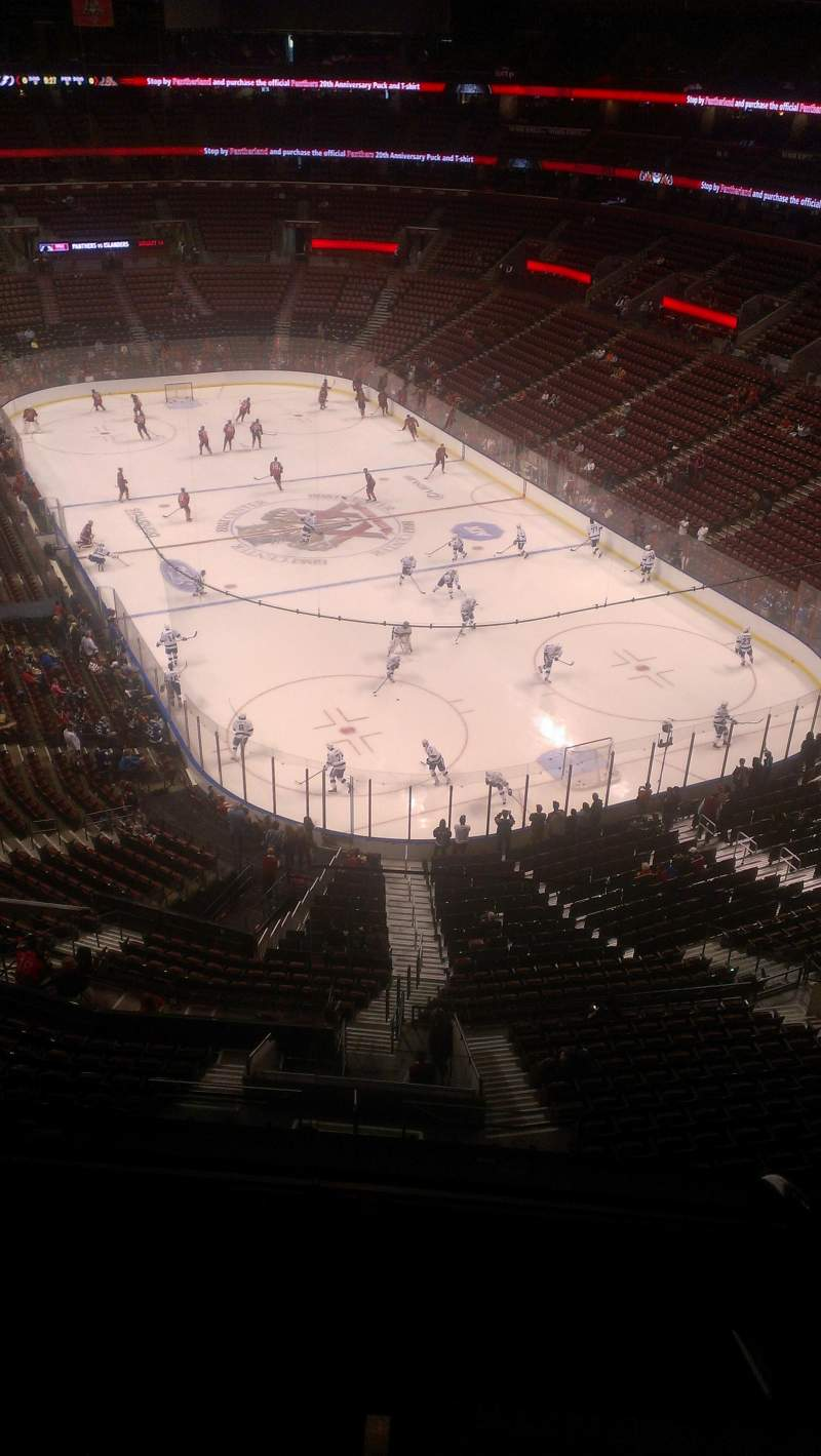 Seating view for BB&T Center Section 429 Row 2 Seat 2