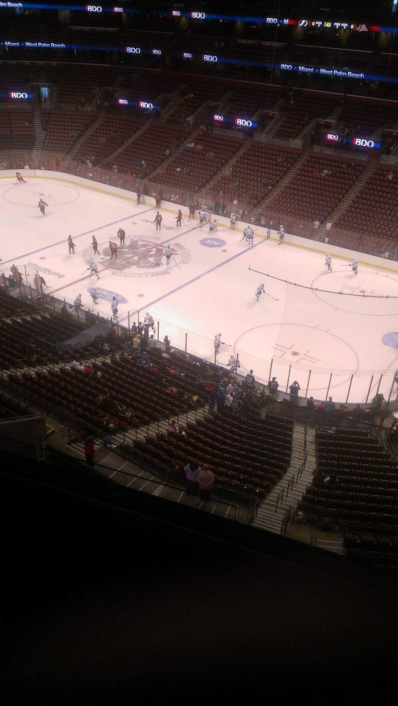Seating view for BB&T Center Section 432 Row 2 Seat 2