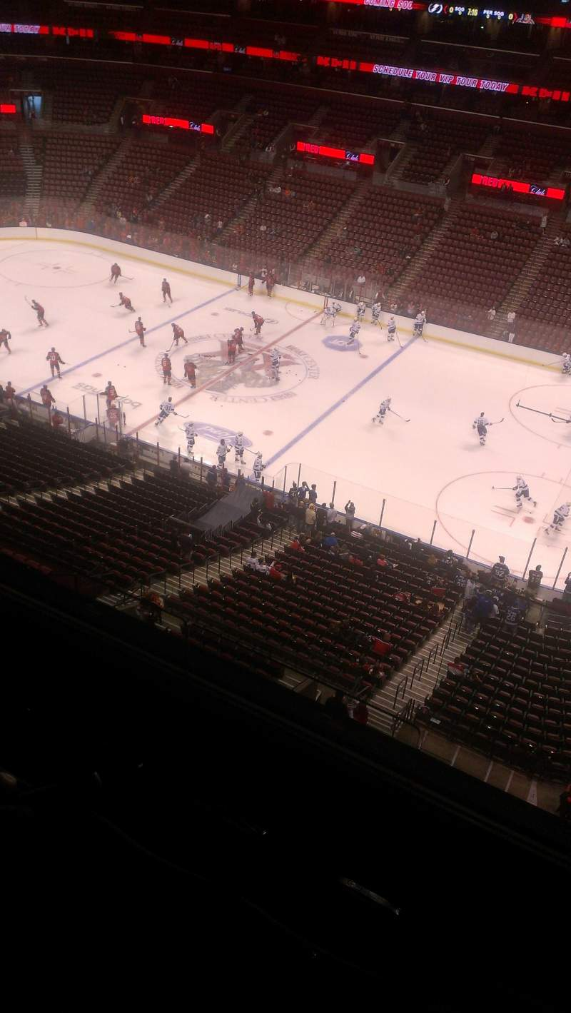 Seating view for BB&T Center Section 433 Row 2 Seat 2