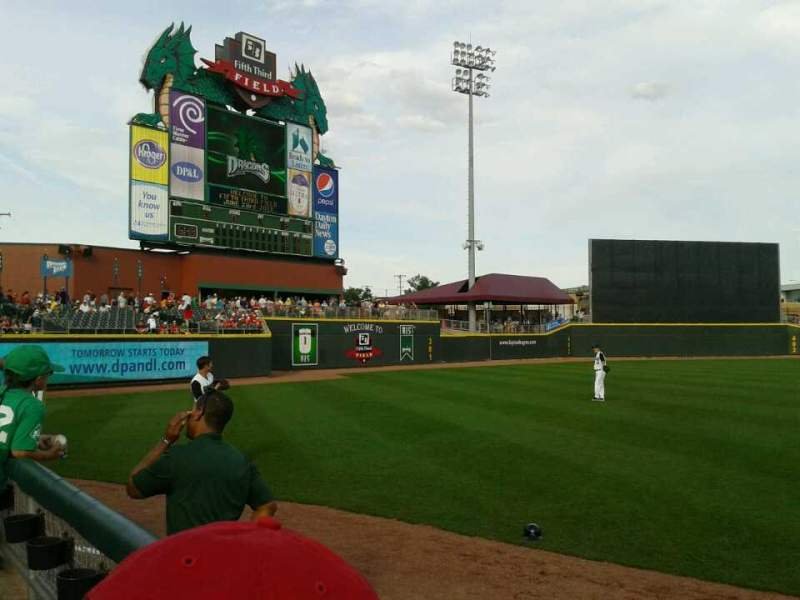 Seating view for Fifth Third Field (Dayton) Section 116 Row 3 Seat 15,16