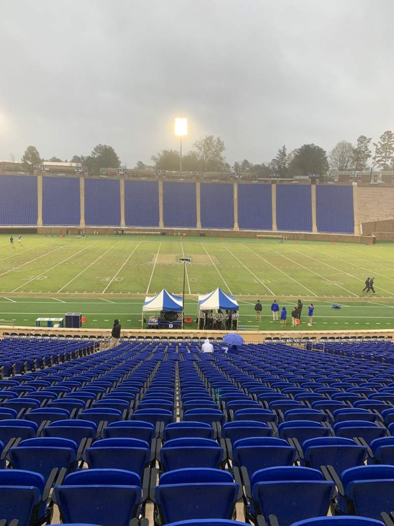 Seating view for Wallace Wade Stadium Section 26 Row Y Seat 14