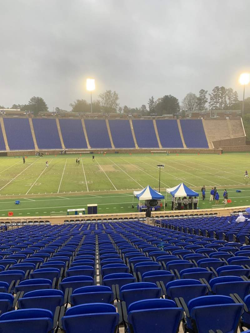 Seating view for Wallace Wade Stadium Section 26 Row W Seat 15