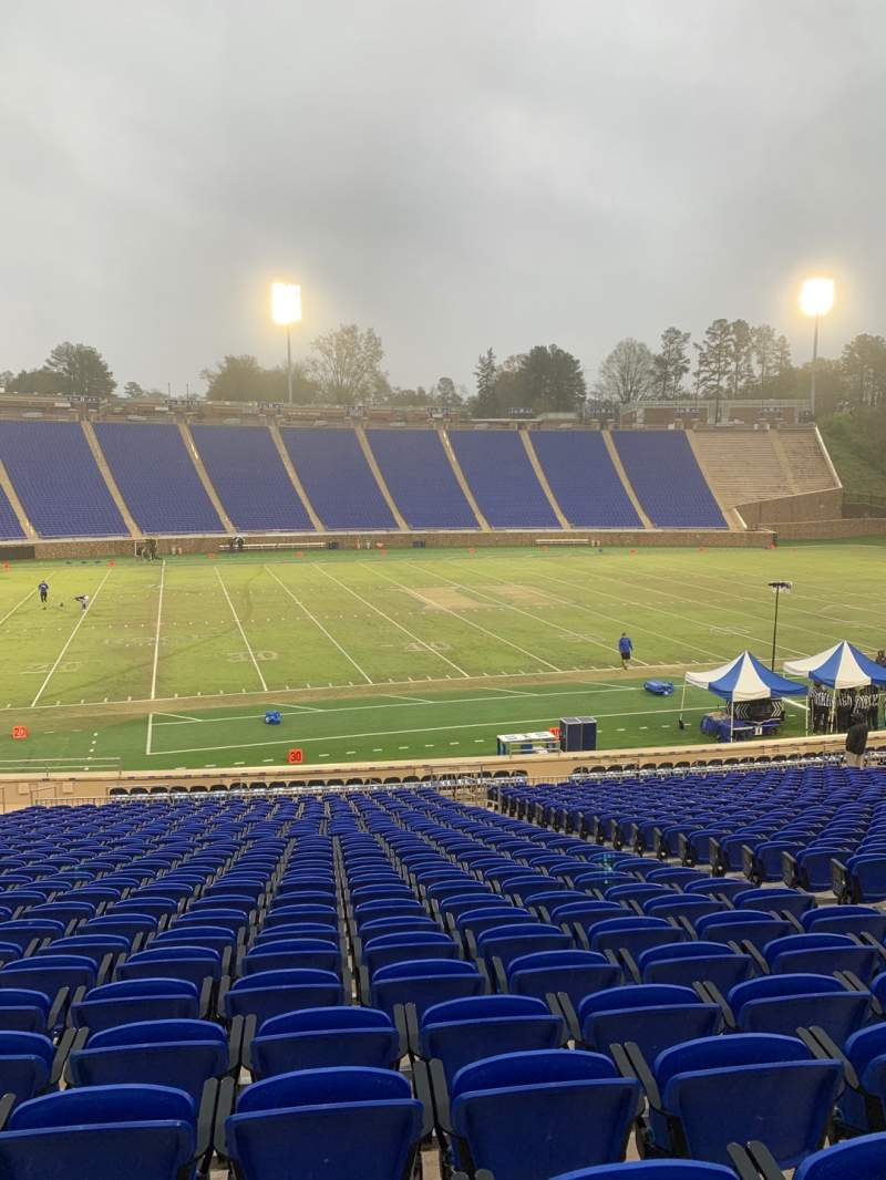 Seating view for Wallace Wade Stadium Section 25 Row W Seat 11