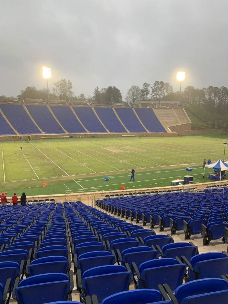 Seating view for Wallace Wade Stadium Section 24 Row V Seat 7