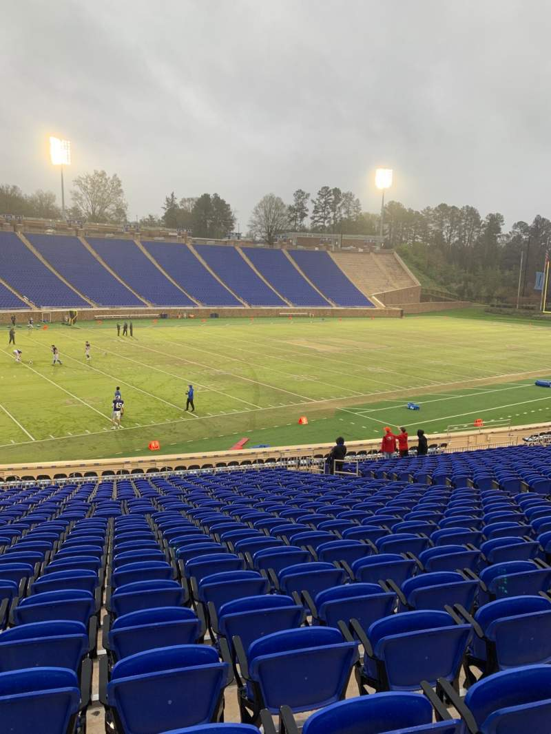 Seating view for Wallace Wade Stadium Section 22 Row S Seat 16